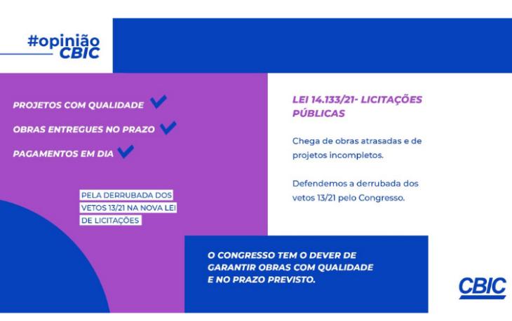 Congresso Nacional vota hoje (4/5) os vetos da nova Lei de Licitações